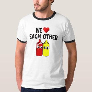Funny Mustard Ketchup Couple T-Shirt