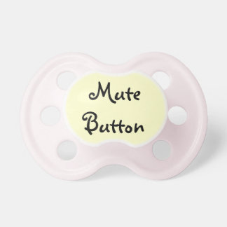 Funny Mute Button Pacifier BooginHead Pacifier