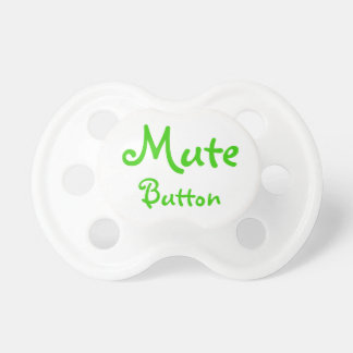 funny mute button pacifiers
