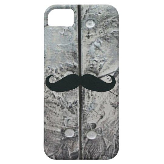 Funny Muystache on Textured Steel iPhone 5 Case