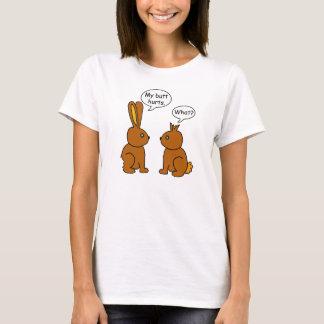 Funny My Butt Hurts Bunnies T-Shirt