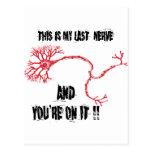 Funny My Last Nerve Postcard
