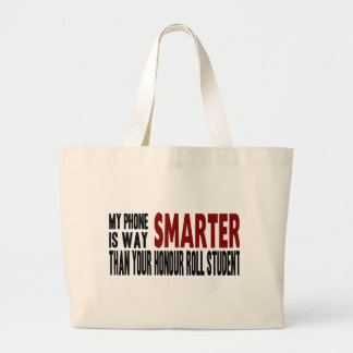 Funny My Smart Phone is Smarter Tote Bags
