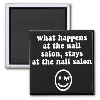 Funny nail salon magnets
