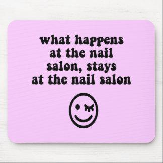 Funny nail salon mouse pad