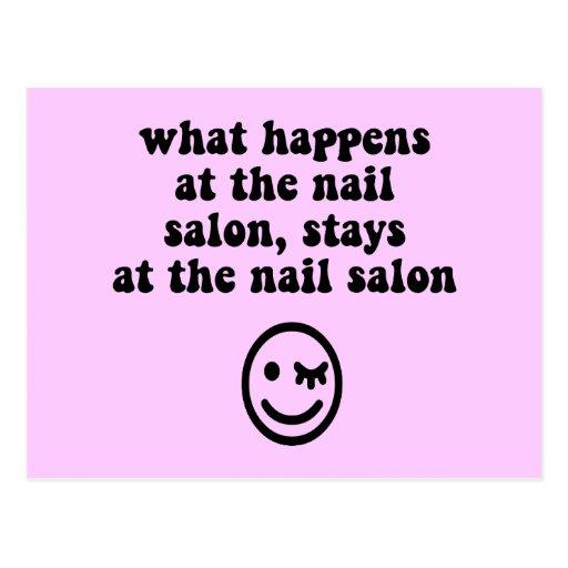 Funny nail salon postcard zazzle for X salon mulund rate card