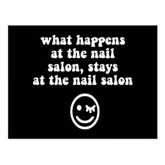 Funny nail salon postcard