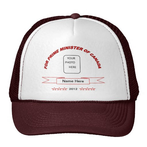 Funny name here prime minister ball cap hat
