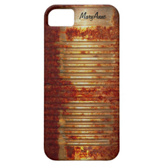 Funny Name Label on Rusty Tin Food Can iPhone SE/5/5s Case