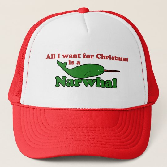 Funny Narwhal Christmas Trucker Hat