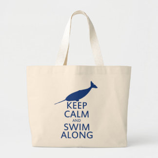 Funny Narwhal Humor Canvas Bag