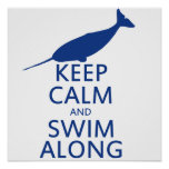 Funny Narwhal Humor Poster