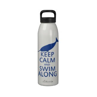Funny Narwhal Humor Reusable Water Bottles