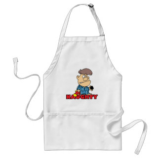 funny naughty boy gets coal cartoon apron
