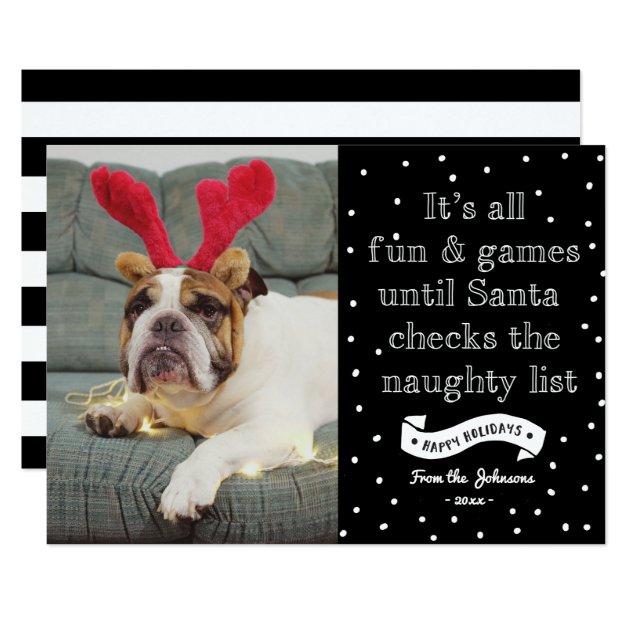 funny naughty list holidays photocard card