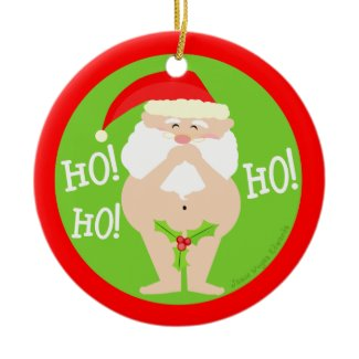 Funny Naughty Santa Christmas Ornament ornament