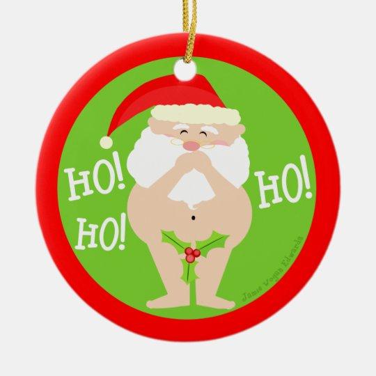 Funny Naughty Santa Christmas Ornament | Zazzle.com