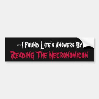 Funny Necronomicon Bumper Sticker