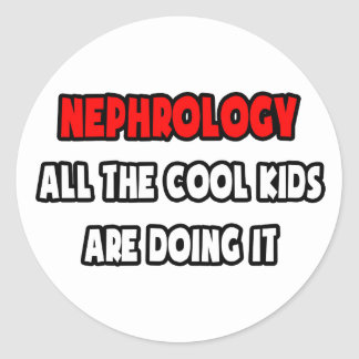 Funny Nephrologist Shirts and Gifts Classic Round Sticker