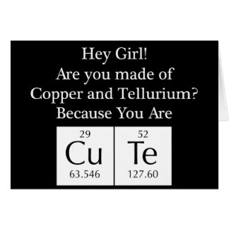 Funny Nerd Chat Up Line Card