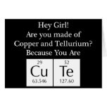 Funny Nerd Chat Up Line Greeting Cards