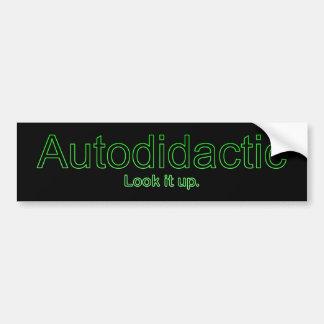 Funny Nerdy Autodidactic Joke Bumper Sticker