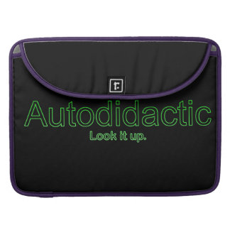 Funny Nerdy Autodidactic Joke MacBook Pro Sleeve