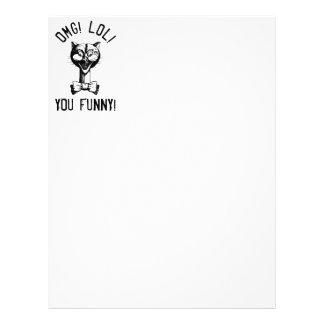 Funny Nerdy Cat Letterhead