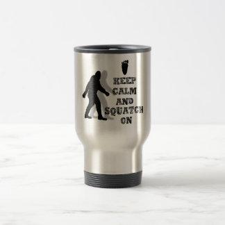 funny nerdy geek big foot sasquatch travel mug