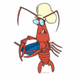 funny nervous lobster chef cooking acrylic cut out