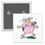 funny nervous piggy bank button