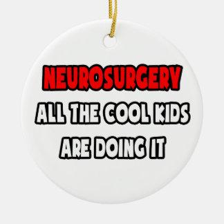 Funny Neurosurgeon Shirts and Gifts Christmas Tree Ornament