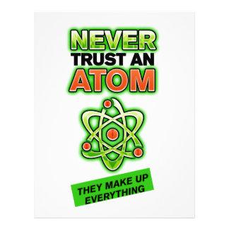 Funny Never Trust an Atom Letterhead