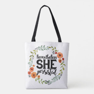 00a1caa59b Funny Nevertheless she persisted cute vintage meme Tote Bag