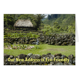 Funny New Address - Eco Friendly Hut Greeting Card