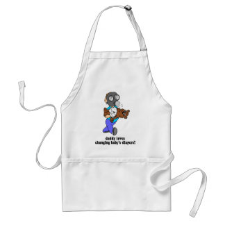 Funny new dad adult apron