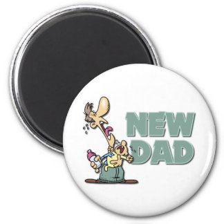 Funny New Dad Gift 2 Inch Round Magnet