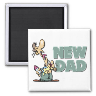 Funny New Dad Gift Magnet