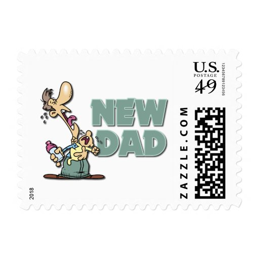 Funny New Dad Gift Postage Stamps