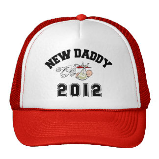 Funny New Daddy 2012 Mesh Hat