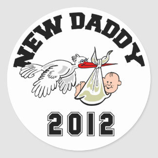 Funny New Daddy 2012 Stickers