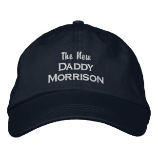 Funny New Daddy Custom Dad Last Name New Baby Embroidered Baseball Cap