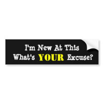 Funny New Driver Bumper Sticker