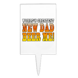 Funny New Fathers : Worlds Greatest New Dad Cake Topper