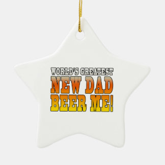 Funny New Fathers : Worlds Greatest New Dad Christmas Tree Ornament