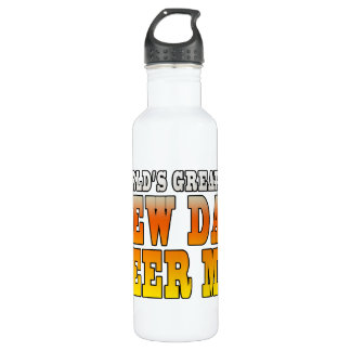 Funny New Fathers : Worlds Greatest New Dad Stainless Steel Water Bottle