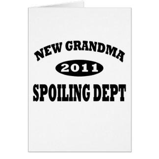 Funny New Grandma Spoiling Department Card