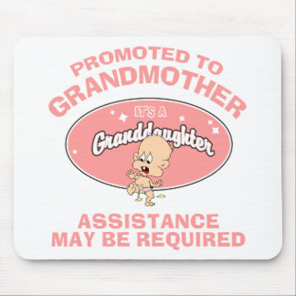 Funny New Grandmother New Granddaughter Mouse Pad