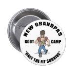 Funny New Grandpa Boot Camp Pin