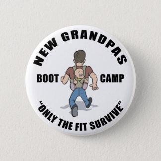 Funny New Grandpa Boot Camp Pinback Button
